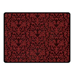 Red Glitter Look Floral Fleece Blanket (small) by gatterwe