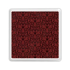 Red Glitter Look Floral Memory Card Reader (square)  by gatterwe