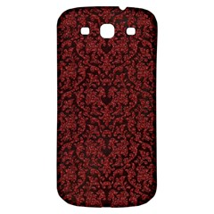 Red Glitter Look Floral Samsung Galaxy S3 S Iii Classic Hardshell Back Case by gatterwe