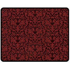 Red Glitter Look Floral Double Sided Fleece Blanket (medium)  by gatterwe