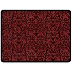 Red Glitter Look Floral Double Sided Fleece Blanket (large)  by gatterwe