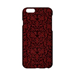 Red Glitter Look Floral Apple Iphone 6/6s Hardshell Case by gatterwe