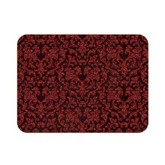 Red Glitter Look Floral Double Sided Flano Blanket (mini)  by gatterwe