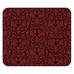 Red Glitter Look Floral Double Sided Flano Blanket (small)  by gatterwe