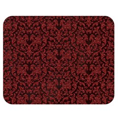 Red Glitter Look Floral Double Sided Flano Blanket (medium)  by gatterwe