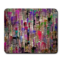 Colorful Shaky Paint Strokes                              Large Mousepad by LalyLauraFLM