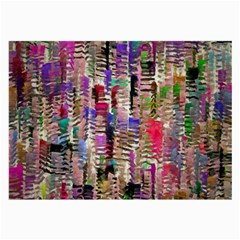 Colorful Shaky Paint Strokes                              Large Glasses Cloth by LalyLauraFLM