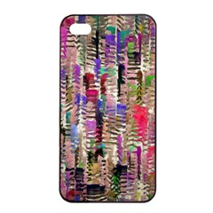 Colorful Shaky Paint Strokes                        Apple Iphone 4/4s Seamless Case (black) by LalyLauraFLM