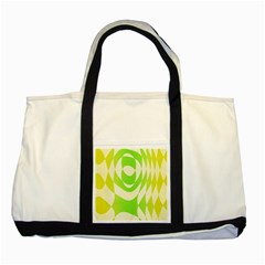Green Shapes Canvas                              Two Tone Tote Bag by LalyLauraFLM