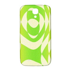 Green Shapes Canvas                        Samsung Note 2 N7100 Hardshell Back Case by LalyLauraFLM