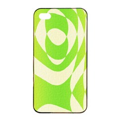 Green Shapes Canvas                        Apple Iphone 4/4s Seamless Case (black) by LalyLauraFLM