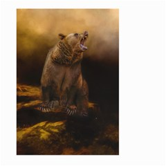 Roaring Grizzly Bear Large Garden Flag (two Sides) by gatterwe