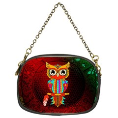 Cute Owl, Mandala Design Chain Purses (one Side)