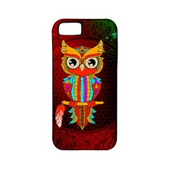 Cute Owl, Mandala Design Apple Iphone 5 Classic Hardshell Case (pc+silicone)