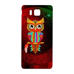 Cute Owl, Mandala Design Samsung Galaxy Alpha Hardshell Back Case by FantasyWorld7