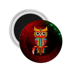 Cute Owl, Mandala Design 2 25  Magnets by FantasyWorld7