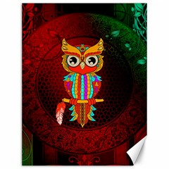 Cute Owl, Mandala Design Canvas 12  X 16   by FantasyWorld7