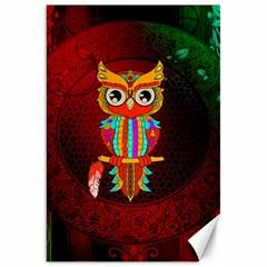 Cute Owl, Mandala Design Canvas 20  X 30   by FantasyWorld7