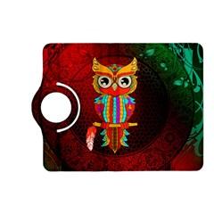 Cute Owl, Mandala Design Kindle Fire Hd (2013) Flip 360 Case by FantasyWorld7