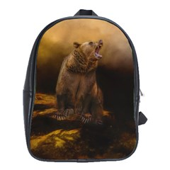 Roaring Grizzly Bear School Bag (large) by gatterwe