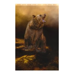 Roaring Grizzly Bear Shower Curtain 48  X 72  (small)  by gatterwe
