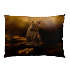 Roaring Grizzly Bear Pillow Case (two Sides)