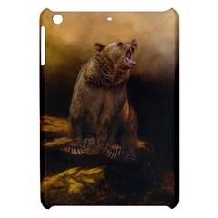 Roaring Grizzly Bear Apple Ipad Mini Hardshell Case by gatterwe
