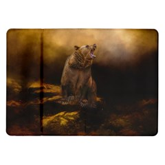 Roaring Grizzly Bear Samsung Galaxy Tab 10 1  P7500 Flip Case by gatterwe