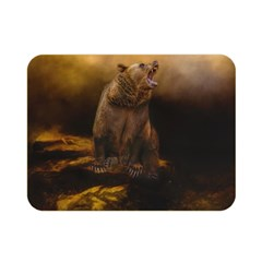Roaring Grizzly Bear Double Sided Flano Blanket (mini)  by gatterwe