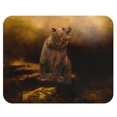 Roaring Grizzly Bear Double Sided Flano Blanket (medium)  by gatterwe
