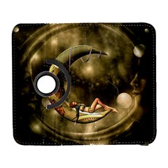 Steampunk Lady  In The Night With Moons Galaxy S3 (flip/folio) by FantasyWorld7