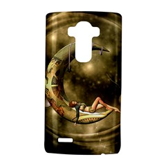 Steampunk Lady  In The Night With Moons Lg G4 Hardshell Case by FantasyWorld7
