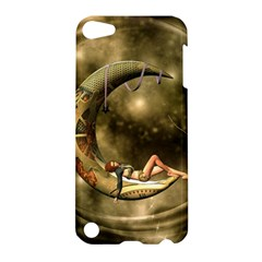 Steampunk Lady  In The Night With Moons Apple Ipod Touch 5 Hardshell Case by FantasyWorld7