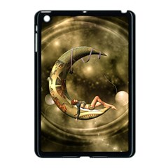 Steampunk Lady  In The Night With Moons Apple Ipad Mini Case (black) by FantasyWorld7