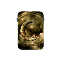 Steampunk Lady  In The Night With Moons Apple Ipad Mini Protective Soft Cases by FantasyWorld7