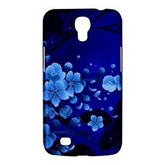 Floral Design, Cherry Blossom Blue Colors Samsung Galaxy Mega 6 3  I9200 Hardshell Case by FantasyWorld7