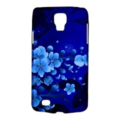 Floral Design, Cherry Blossom Blue Colors Galaxy S4 Active by FantasyWorld7