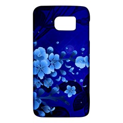 Floral Design, Cherry Blossom Blue Colors Galaxy S6 by FantasyWorld7