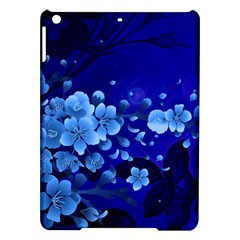 Floral Design, Cherry Blossom Blue Colors Ipad Air Hardshell Cases by FantasyWorld7