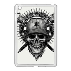 Skull Helmet Drawing Apple Ipad Mini Case (white) by amphoto