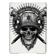 Skull Helmet Drawing Ipad Air Hardshell Cases by amphoto