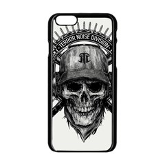 Skull Helmet Drawing Apple Iphone 6/6s Black Enamel Case by amphoto