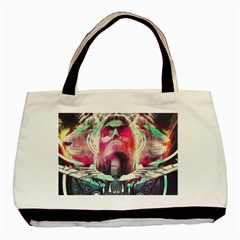 Skull Shape Light Paint Bright 61863 3840x2400 Basic Tote Bag (two Sides) by amphoto