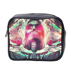 Skull Shape Light Paint Bright 61863 3840x2400 Mini Toiletries Bag 2 Side