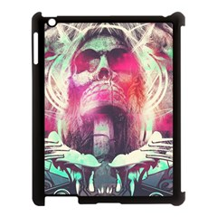 Skull Shape Light Paint Bright 61863 3840x2400 Apple Ipad 3/4 Case (black) by amphoto