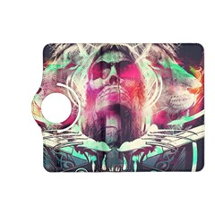 Skull Shape Light Paint Bright 61863 3840x2400 Kindle Fire Hd (2013) Flip 360 Case by amphoto