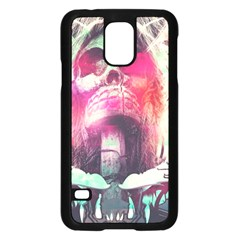 Skull Shape Light Paint Bright 61863 3840x2400 Samsung Galaxy S5 Case (black) by amphoto