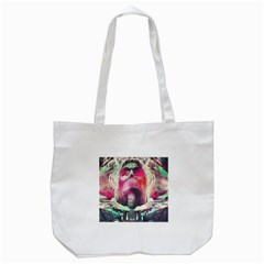 Skull Shape Light Paint Bright 61863 3840x2400 Tote Bag (white)