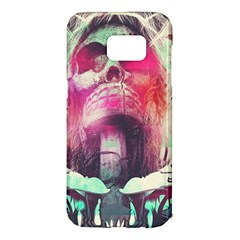 Skull Shape Light Paint Bright 61863 3840x2400 Samsung Galaxy S7 Edge Hardshell Case by amphoto