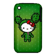 Vector Cat Kitty Cactus Green  Iphone 3s/3gs by amphoto